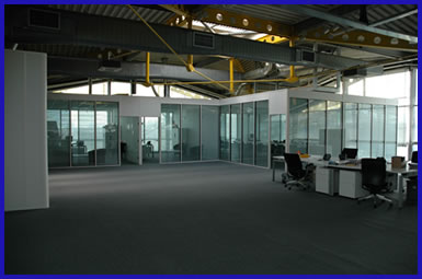 Internal office partitioning, factory and office refurbishment services in Gloucestershire, UK